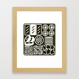 Jubako No3 Monochrome Framed Art Print
