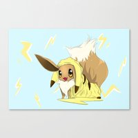 eevee Canvas Prints featuring Eevee-licious! by EeekGirl