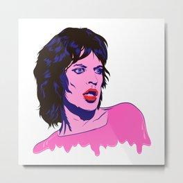 Glam Jagger Metal Print