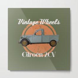Vintage Wheels - Citroën 2CV Pickup Metal Print