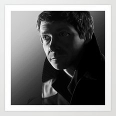 John in black and white Art Print