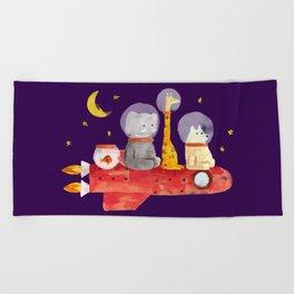 Let's All Go To Mars Beach Towel