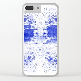 Deep Ocean Blue with White Caps Clear iPhone Case