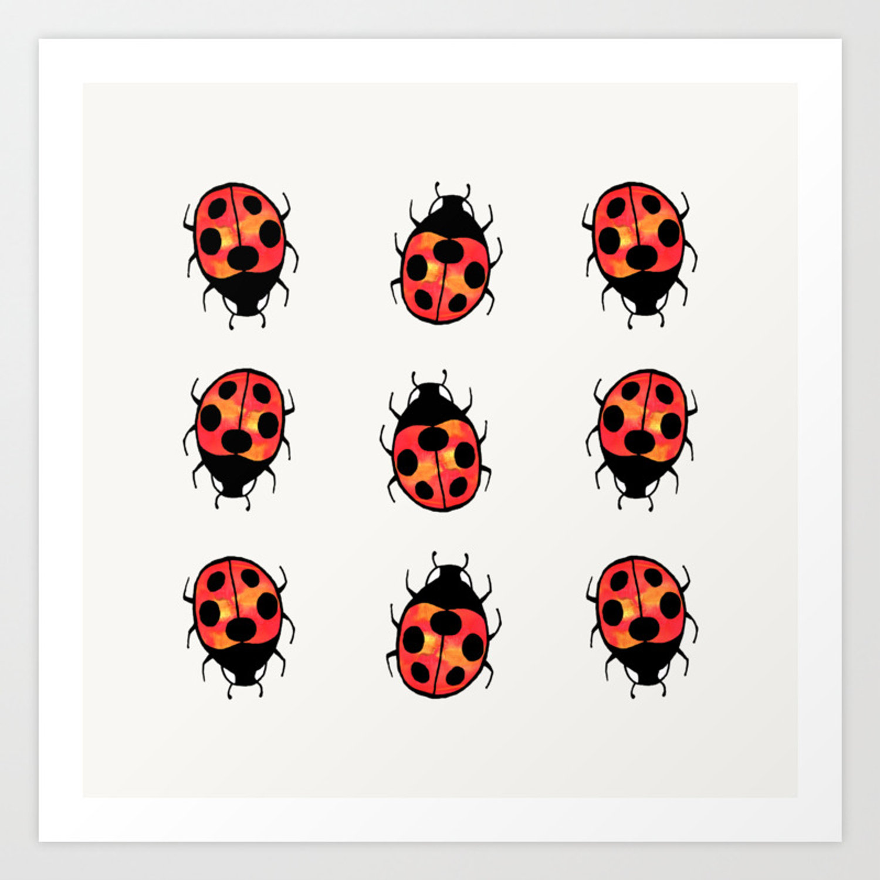 Lucky Ladybugs Art Print By Olooriel Society6