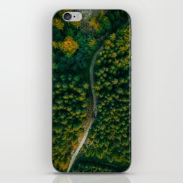Wall Art Decor, Aerial Photo Print of Pine Forest in Czech Republic | by Mate Valtr iPhone Skin