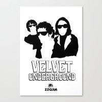 velvet underground Canvas Prints featuring VELVET UNDERGROUND W by zzglam