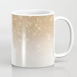 Glamorous Gold Glitter Sequin Ombre Gradient Coffee Mug