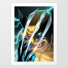 LOGAN X-MEN SUPERHERO COMICS Art Print