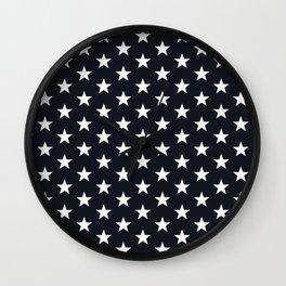 Superstars White on Black Medium Wall Clock