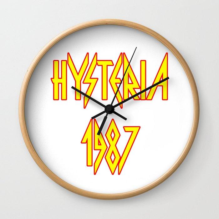 Hysteria 1987 Wall Clock