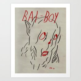 Bat Boy Art Print
