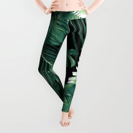 Tropical Jungle Leaves Dream #6 #tropical #decor #art #society6 Leggings