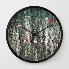 Poppys at Night Wall Clock