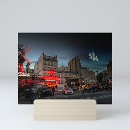 Two sides of Montmartre - MoulinRouge and Sacre Coeur Mini Art Print