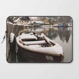 Boats At The Bled Lake Laptop Sleeve