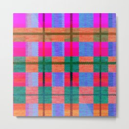 Beautiful multicolor tartan Metal Print