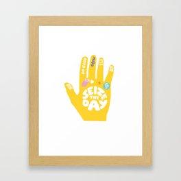 Seize the day – Sunshine hand Framed Art Print