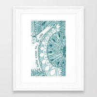sia Framed Art Prints featuring Sia Bella Come Te by Jen Fleming