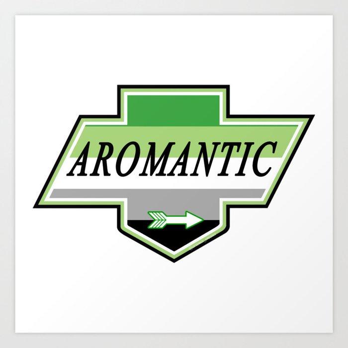 Identity Stamp: Aromantic Art Print