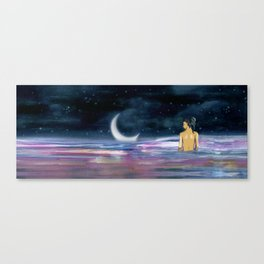 Stars cant shine without Darkness Canvas Print