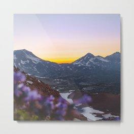 3 Sisters Sunset Metal Print