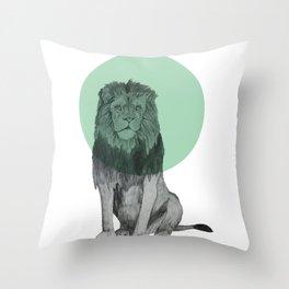 sitting lion Throw Pillow
