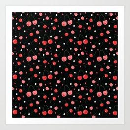 Cherry Print Art Print