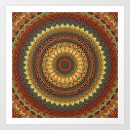Earth Mandala 6 Art Print