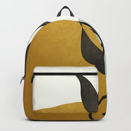 Soft Abstract Small Leaf Backpack