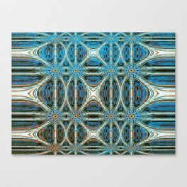 Turquoise Weave Canvas Print