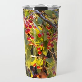 Bright red berries on a tree Travel Mug