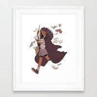 hermione Framed Art Prints featuring Hermione by batcii