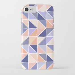 Triangle Geometry in Purple and Coral iPhone Case