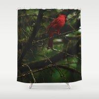 cardinal Shower Curtains featuring Cardinal by Tarraf Photography