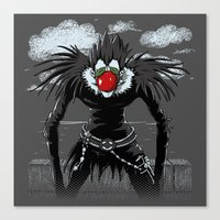 magritte Canvas Prints featuring Ryuk Magritte by le.duc