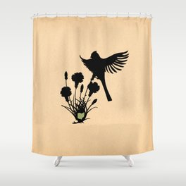 Ohio - State Papercut Print Shower Curtain