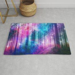 magical nebula forest Rug