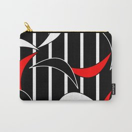 Black, White and Red Carry-All Pouch