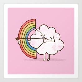 rainBOW pink Art Print