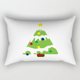 Christmas tree snow  Rectangular Pillow