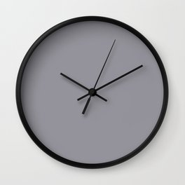 I Have Come Home ~ Gray Feathers Wall Clock