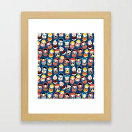 Babushka dolls vibrant pattern Framed Art Print