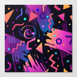 Retro vintage 80s or 90s fashion style abstract  pattern  Canvas Print