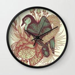 Nuthatch flora & fauna Wall Clock