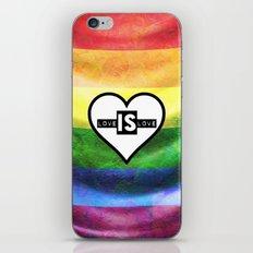LOVE IS LOVE iPhone & iPod Skin