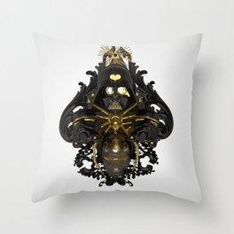 Black stress Throw Pillow