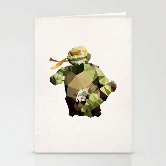 Polygon Heroes - Michelangelo Stationery Cards