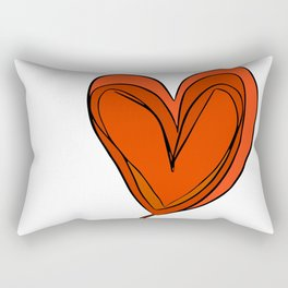 Amor en Mente Rectangular Pillow