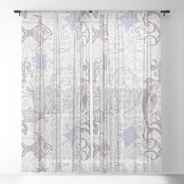 Ocean Motion 2 Sheer Curtain