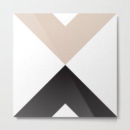 Minimal X Tan Metal Print